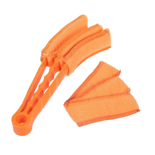 Practical Blind Cleaner Keyboard Air-condition Computer  Dust Collector Orange