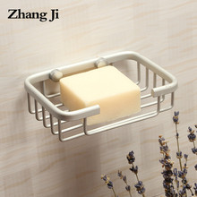 Zhangji Space Aluminum Soap Box Wall Mounted Bathroom Soap Holder Hanging Organizer Soap Dish Bathroom Shelves Soap Basket ZJ123(China)