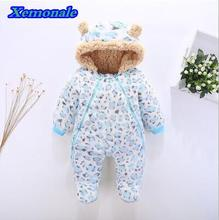 Tender Babies Newborn baby clothes bear onesie baby girl boy rompers hooded plush jumpsuit winter overalls for kids roupa menina