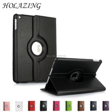 360 Degree Rotation Case For iPad 2 3 4 PU Leather Stand Cover For iPad2 iPad3 iPad4 With Smart Auto On/Off Funda Coque(China)