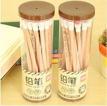 20pcs/lot Cheap Childrenbulk HB environmentally pencil drawing students to write logs hexagonal school wooden pencil with eraser