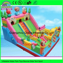 2017 New design outdoor commercial inflatable bouncer, giant kids infaltable bouncy castle rental