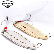 1PC Metal Lure Exported Fishing Bait Spoon Lures 5G-7G-10G-15G-20G Fishing Lure 2 Color 8#-2# Hook Fishing Tackle