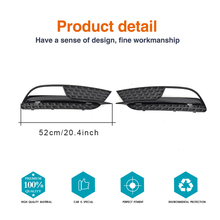 ABS Mesh Black Car Fog Light Grille Covers for Audi A5 8F Standard Bumper only 2012-2017