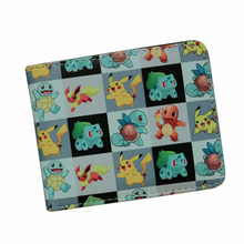 Anime Cartoon Wallets Bifold Game Pokemon Go Wallet For Teenager Women Men Pocket Monster Purse Cute Pocketbook Christmas Gift
