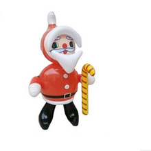 wholesale 10pcs/lot free shipping Inflatable Santa Claus Cartoon Inflatable Toys children toys Christmas Party Home Decoration(China)