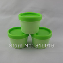 100g X 20 Empty cylinder mask cosmetidc PP bottle, green round facial mask cream jars containers Pot  refillable jars supplier