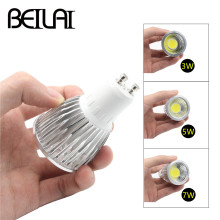 BEIYUN 10PCS Dimmable COB LED Spotlight GU10 3W 5W 7W 220V 110V Lampada LED Lamp AC 85-265V Candle Luz Bombillas LED Bulbs Light(China)