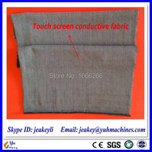 Silver Fiber Conductive Fabric for Touch Screen Gloves / Touch Screen Fabric YSILVER37#(China)