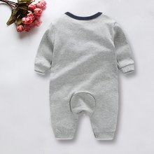Baby One-piece Kids Jumper Crawling Clothing Combed Cotton Cute Gray Dinosaur Pattern For Kids