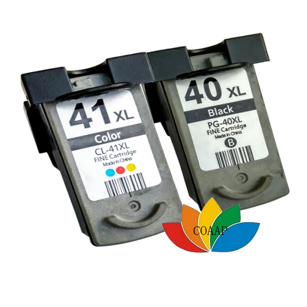 2x Non-original CANON PG-40 CL-41 Ink Cartridge for PIXMA MP150 MP170 MP450 iP2200 iP1600 iP1800 iP6210D iP6220D iP2400 iP2500<br><br>Aliexpress