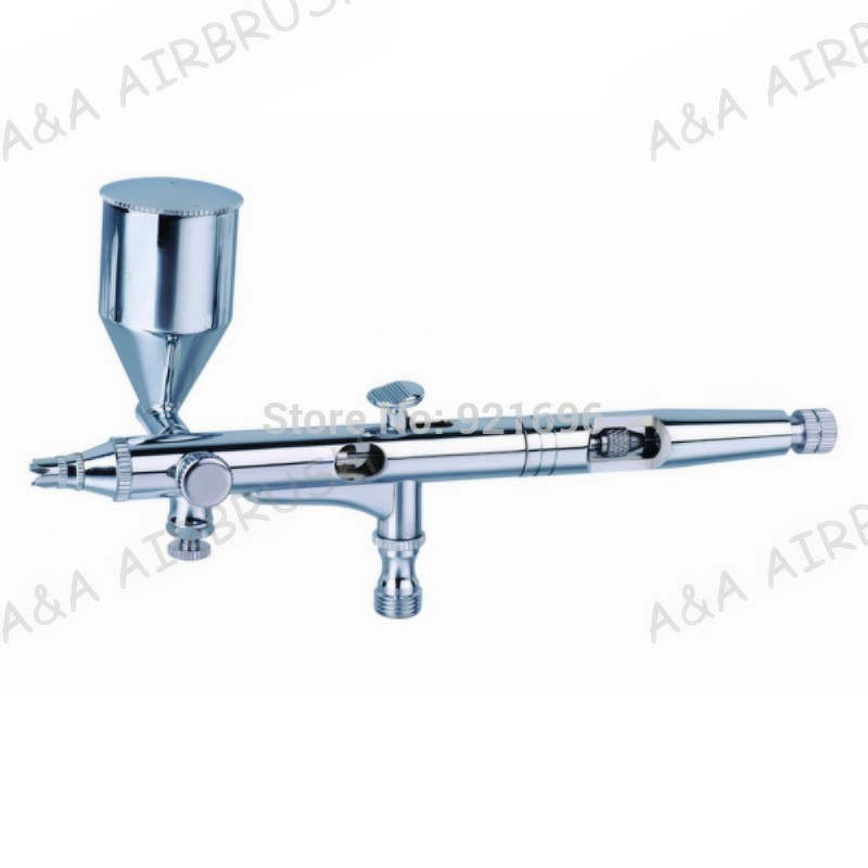 181A AIRBRUSH PRO KIT DOUBLE ACTION.-13cc Cup MODEL NAIL CRAFT ART MAKUP TATTOO 0.2mm Gravity Feed Micro back stop screw<br>