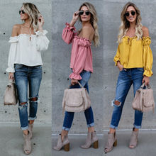 Buy Summer New Fashion Women Clothing Ladies Top Shoulder Casual Sleeves Tops Shirts Blouses Lady Clothes for $5.82 in AliExpress store