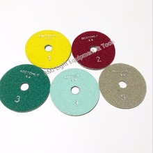 5 units / lot 5 step marble granite wet Diamond Polishing Pads 4 inch girt 1 2 3 4 5(China)