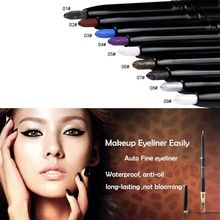 Eye Liner Pencil Long Lasting Waterproof Smudge-proof Face Makeup Eyeliner Pen J2 B6(China)