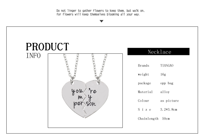 Engraved Heart BFF Necklaces For 2