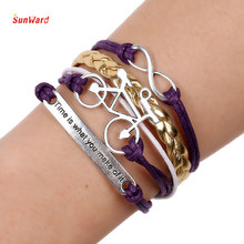 SunWard Women Men Bicycle Purple Bracelet Gift Bracelet Female Party Jewelry Hand Accessories 1pc
