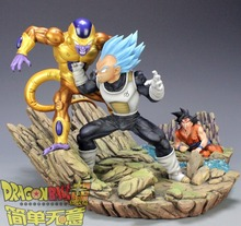 MODEL FANS MRC copy version Dragon Ball Z 30cm blue hair Vegeta VS gold Frieza gk resin action figure toy for Collection