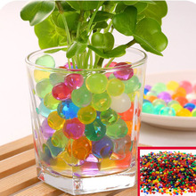 1000 Pieces Of Decorative Pearl-Shaped Crystal Mud Water Bio-Gel Ball Flower Weeding Mud Growth Magic Jelly Ball Family Potted