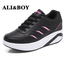 ALI&BOY Brand Outdoor Sports Shoes Height Increasing 2017 Women Sports Running Shoes Female Sneakers For Woman Athletic Shoes(China)