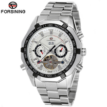 Forsining Tourbillon Watches Mens Automatic Watch Men Luxury Brand Famous Stainless Steel Mechanical Watch Relogio Masculino