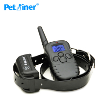 Petrainer 998DB-1BL 300M Range LCD Screen Rechargeable Dogs Shock Electronic Collar Training Necklace With Waterproof Receiver(China)