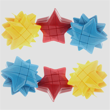 YongJun YJ Magic Pentagram Cube Blue Yellow Red Strange-shape Magic Cubo ABS Educational Toys Kid Christmas Gift Pentacle Cube