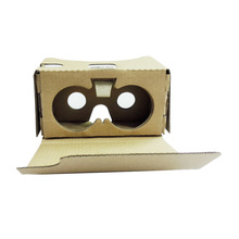 "Ship from US Portable DIY Google Cardboard V2.0 VR Box 3D VR Virtual Reality 3D Glasses Video Glasses for Up to 6"" Smart Phones(China)"