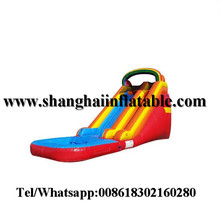 2in1 swiming pool inflatable water slides for sale wet dry