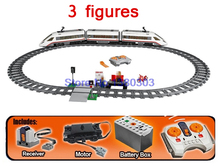 610pcs LEPIN City Trains HIGH-SPEED PASSENGER TRAIN Building Blocks With Motors Power Function Bricks Compatible With Lego 60051