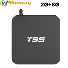 T95 TV Box 2GB 8GB Metal Case Amlogic S905x Quad Core Android 6.0 Dual WiFi KODI16.0 APK addons Pre-installed media player 4k