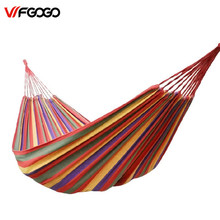 WFGOGO Big-Size Hammock Portable Camping Garden Beach Travel Hammock Outdoor Ultralight Colorful Cotton Polyester Swing Bed(China)