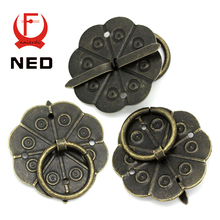 NED 10pcs Classical Bronze Tone Quincunx Drawer Cabinet Desk Door Pull Box Handle Knobs Furniture Handles Hardware With Screws