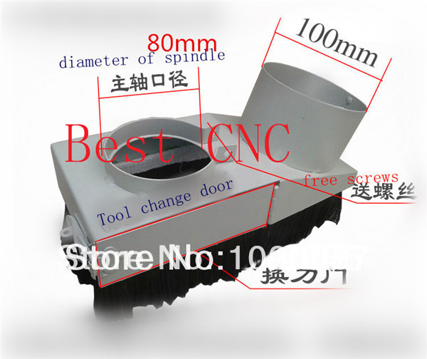 80mm Vacuum Cleaner Engraving machine Dust Cover for CNC Router and spindle motor<br>