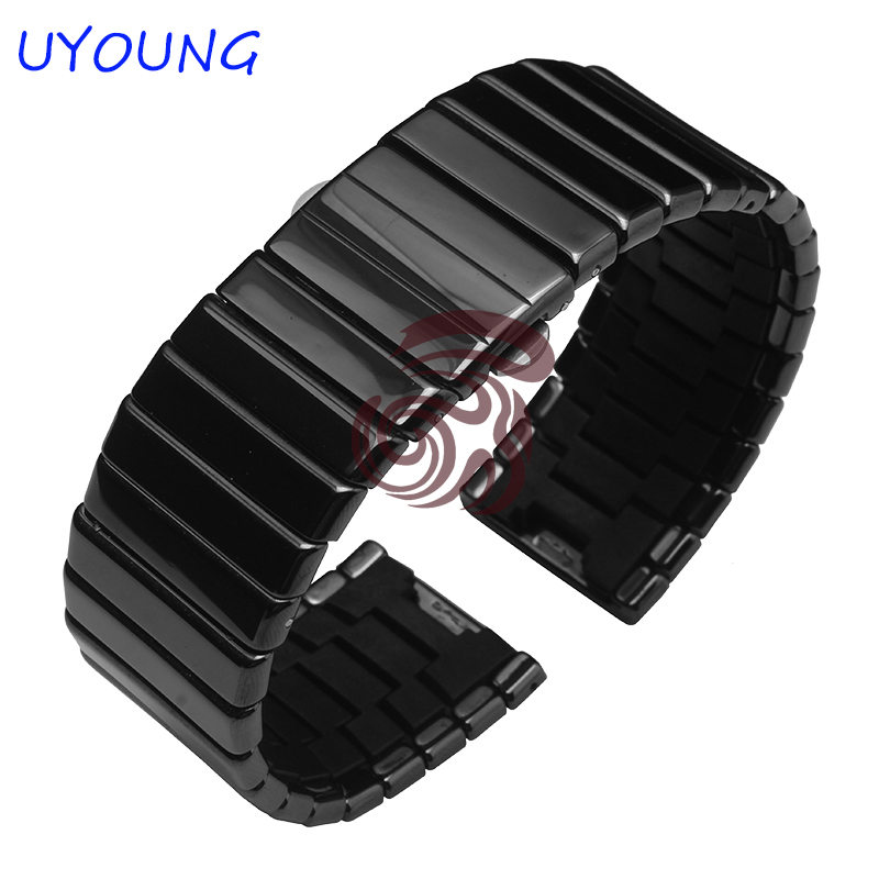 High Quality Ceramic Watchband 19mm 24mm 27mm Replacement Ceramic Strap Fine Steel Buckle With<br>
