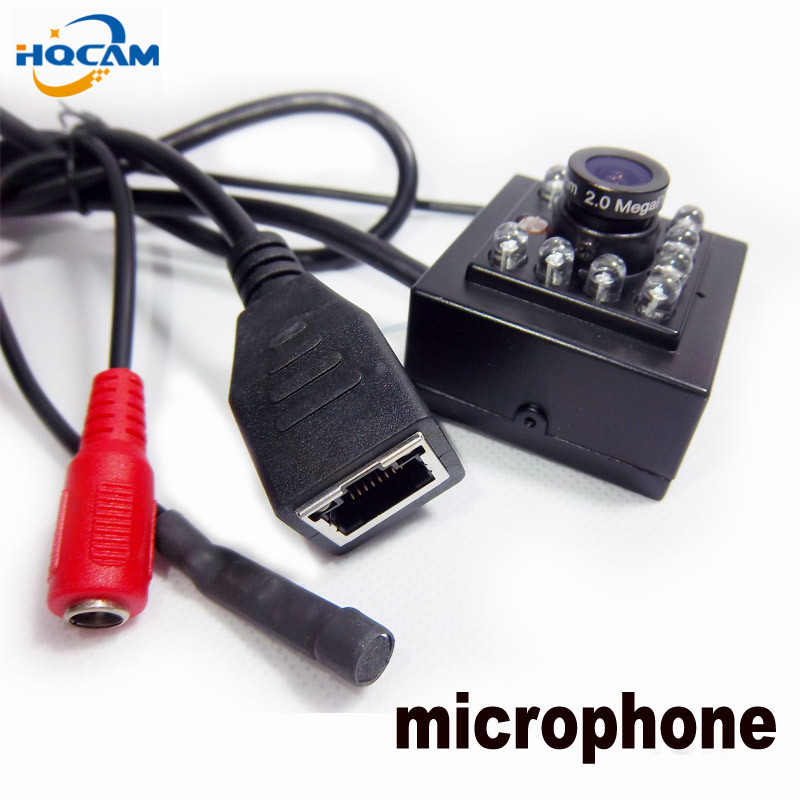 HQCAM 720P MINI IR 940nm Leds 1.0MP Onvif Cctv Ir Mini Ip Camera microphone audio Camera HI3518E IR CUT Night Vision IP CAMERA<br>