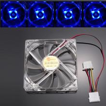 Noise: 20dB (A) 4Pcs Blue Quad 4-LED Light Neon Clear 120mm PC Computer Case Cooling Fan Mod micro fan wholesale price