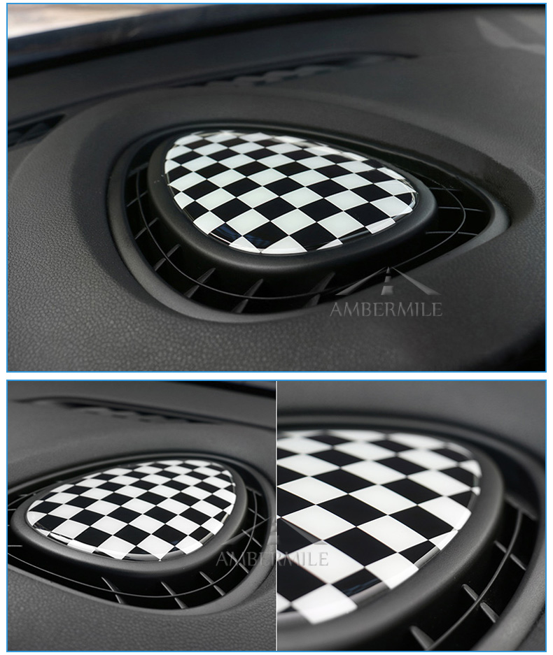 3D Crystal Epoxy Car Console Air Outlet Vent Cover Sticker for Mini Cooper JCW One F56 F55 F54 Accessories Car Styling (6)
