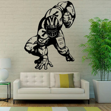 DCTOP American Football Player Wall Decals Sport Vinyl Art Wall Stickers Home Decor Waterproof Hot Selling Sticker
