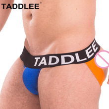Buy Taddlee Brand Men's Jockstraps Underwear Gay Penis Cotton Jock Straps Briefs Bikini Low Waist Backless Buttocks G Strings Thong