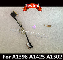 "New For Macbook Pro 15"" Retina A1398 A1425 A1502 LCD LVDS Display Cable With LCD hinge + Connector"