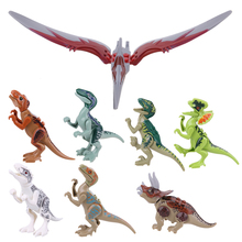 Simulated Dinosaur Model Kids Children ABS Plastic Assembled Intelligence Developmental Puzzle Toy for Playing Game