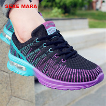 Running shoes for women Air cushion Shoes 2017 Woman Sneakers women Brand Outdoor wedge Sport shoes Shock absorption Zapatillas