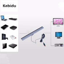 Kebidu New Arrival Infrared IR Signal Ray Sensor Bar/Receiver Wired Game Consoles Accessories for Nitendo Wii Remote(China)