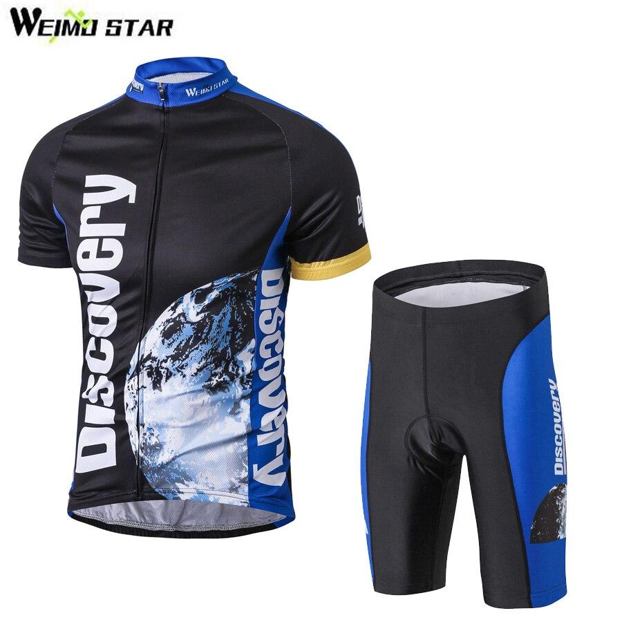 Discovery Cycling Sets Bike jersey sets Cycling jersey Sets Cycling clothing short sleeve bike bicycle jersey + pants sets<br>