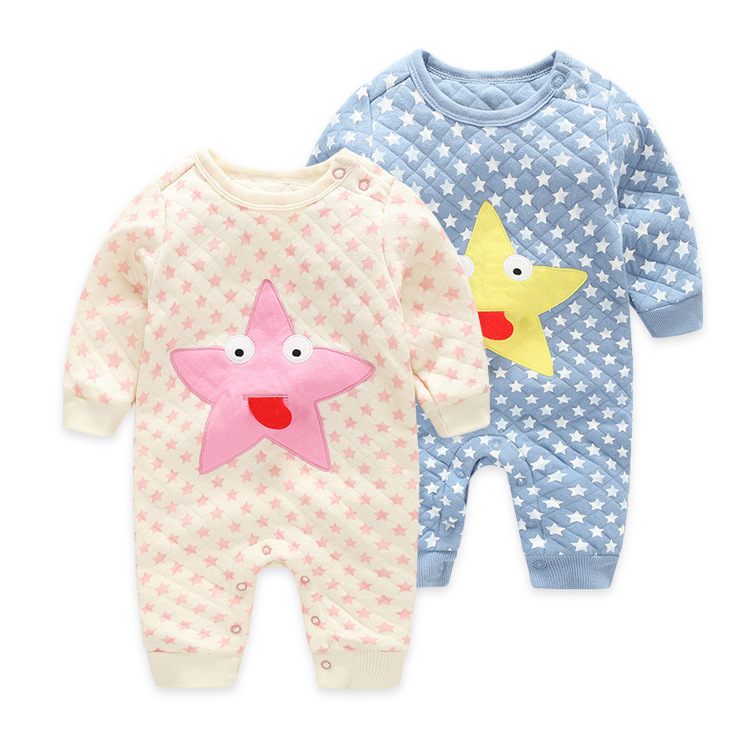 Cotton Baby Romper Fashion Long Sleeve Stars Pattern New Born Baby Clothes Cute Infant Girls Clothing Spring Baby Boy Rompers<br><br>Aliexpress