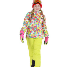 2016 New Children Winter Set Bbay girl's sport snow ski sets Windproof Waterproof Jacket Coat + Pants kids outdoor warm clothes
