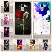 TPU Soft Cases Cover for Huawei Honor 7 Phone Case 3D Printed Back Cover Mobile Phone Cases for Honor 7 Capa Protector Shell(China)