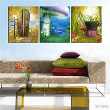 Modern New Prints Oil Painting On Canvas Fairy Tale World Scene Picture For Kids Room Walls Decor Dream Scenery The Newest