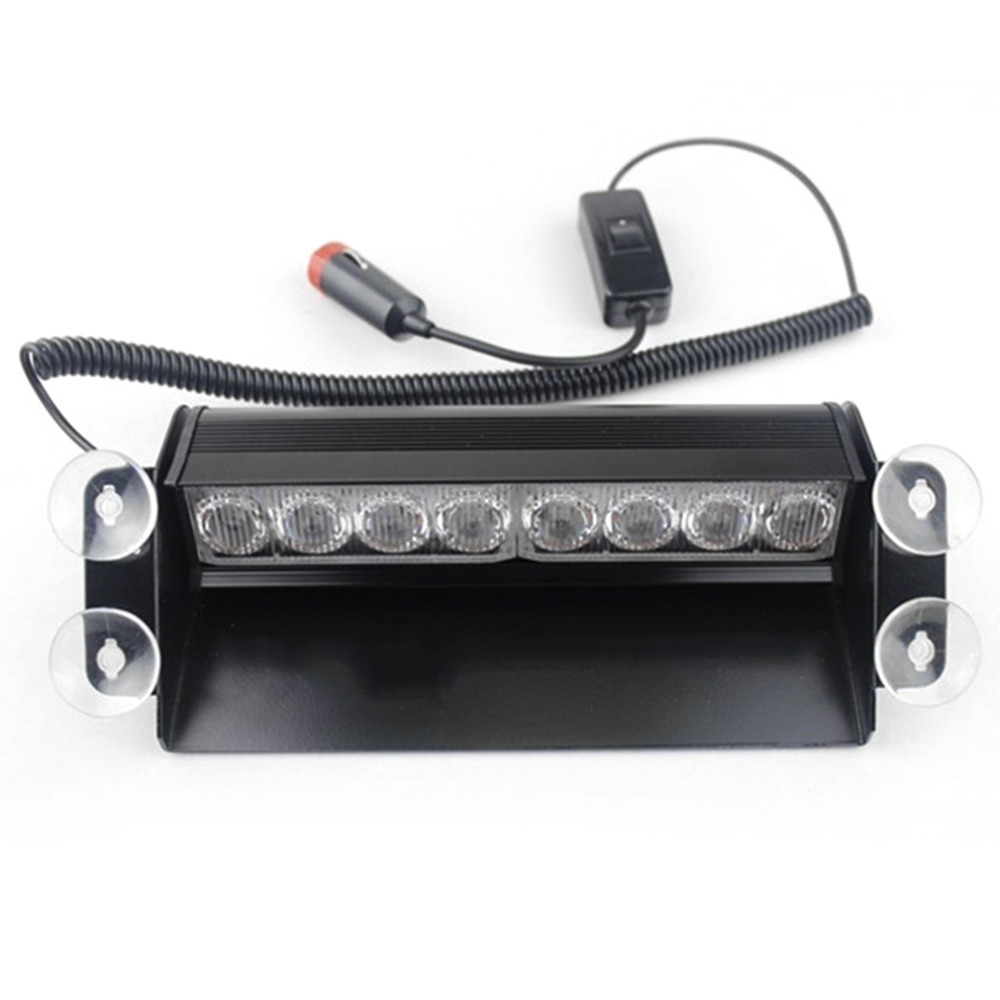 New Red and Blue Generation 8 LED Grille Warning Flash Strobe Lights/Lamps Blocks For Dashboard or Mounting onto the Windshield<br><br>Aliexpress